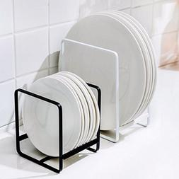 kitchen with drain board drying rack