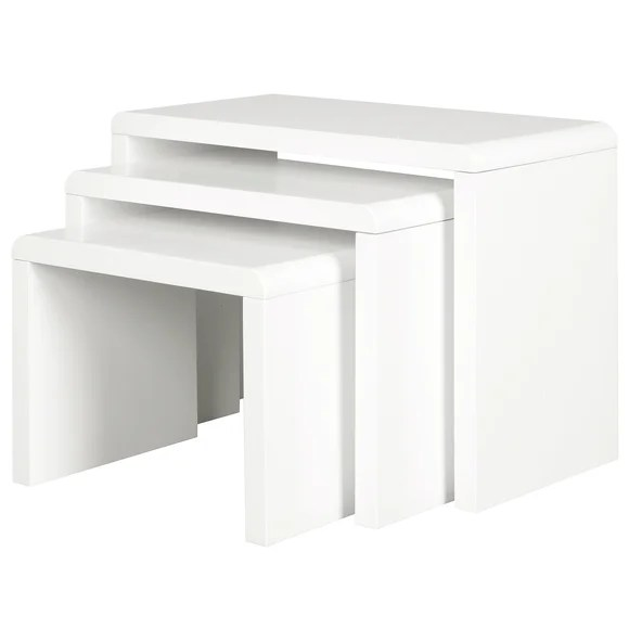 Soho White Gloss Nest Of Tables Dunelm