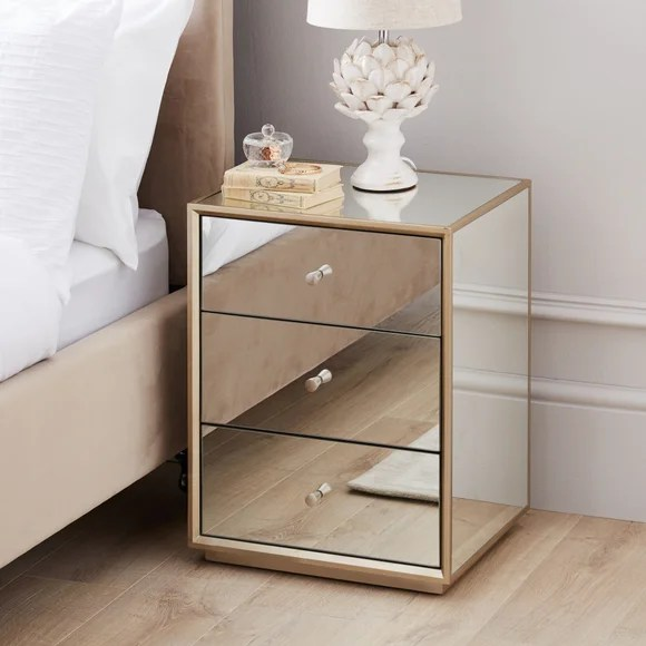 mirrored furniture mirrored bedroom
