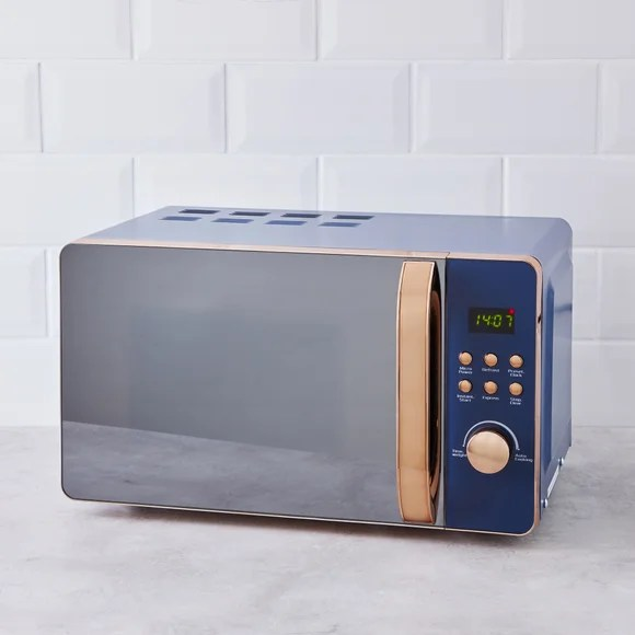 accents 20l 700w navy microwave