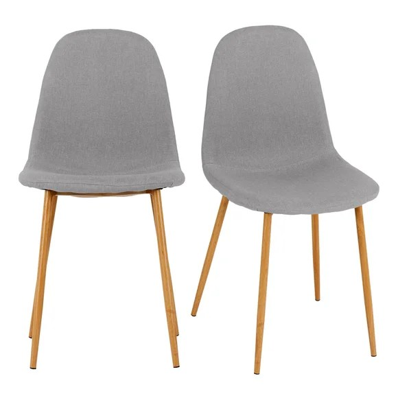 Bailey Set Of 4 Dining Chairs Grey Fabric Dunelm
