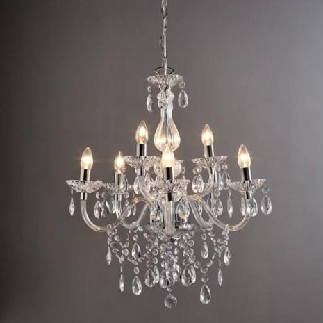 Maisie 8 Light Glass Chandelier