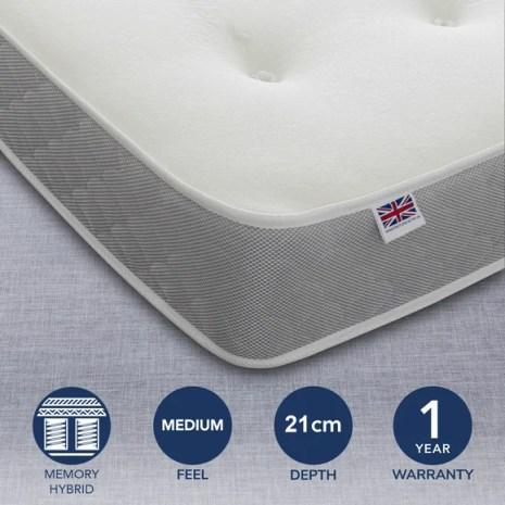 Sofia Open Coil And Memory Foam Mattress