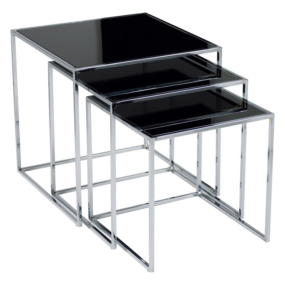 cubic nest of glass side tables dwell 199