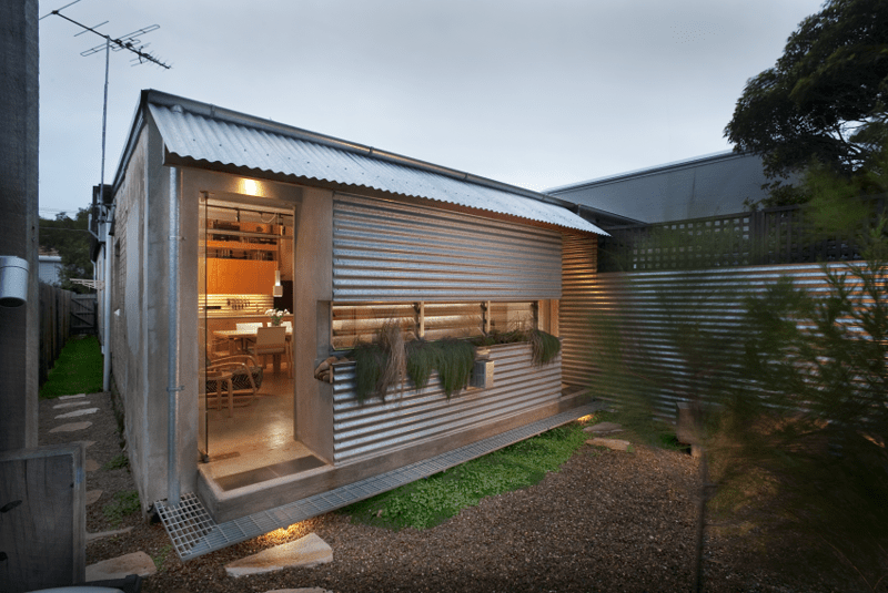Exteriors  Design and ideas for modern homes   living Compact Australian Home Clad in Steel and Concrete