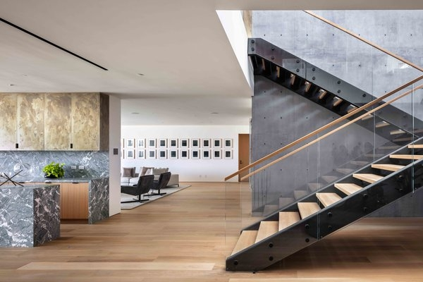 Best 22 Modern Staircase Glass Railing Wood Railing Design Photos | Wooden Handrail With Glass | Oak | Square | Marble | Landing | Nautical Wood