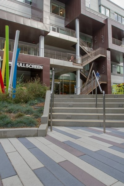 Photo 1 Of 7 In Precast Concrete Stair Treads Transform A Hip | Concrete Stairs Design Outdoor | Beautiful | Roof Deck | Storage Underneath | Exterior | Modern