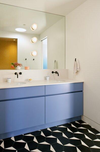 modern bathroom engineered quartz
