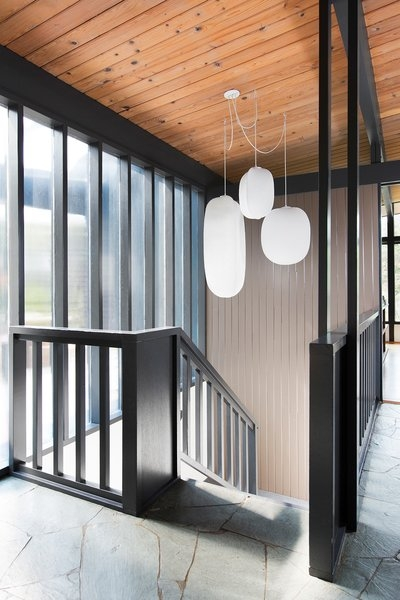 Hillside Midcentury Modern Home In Seattle Washington By Shed… On   Mid Century Modern Handrail   Porch   Interior   Art Deco   Wooden   Railing