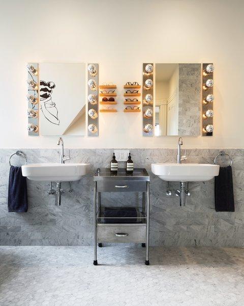 bathroom marble walls wall mount sinks