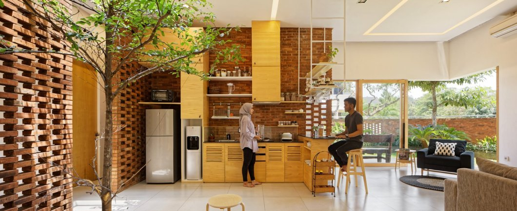 Flick House Delution Indonesia Green Architecture Kitchen