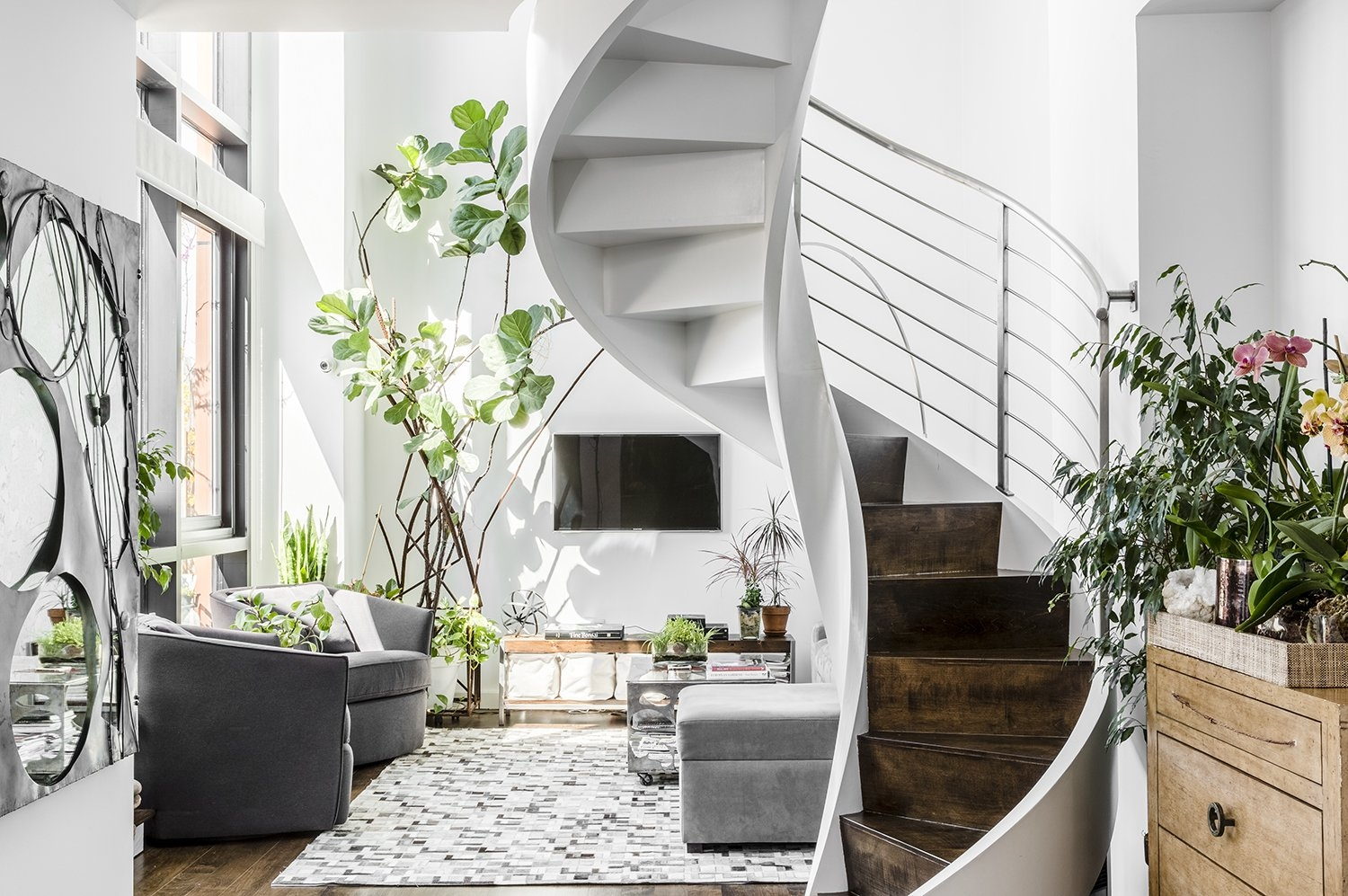 35 Swoon Worthy Staircases That Are A Step Above The Rest Dwell   Duplex House Interior Steps   Glass   Small Space   Inside   Bedroom   Wooden