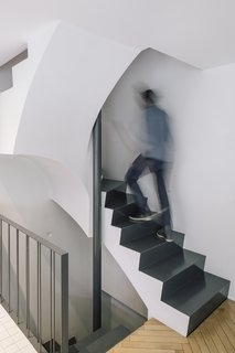 Best 60 Modern Staircase Design Photos And Ideas Dwell | Front Side Staircase Design | Ground Floor Tower | Gallery Photo Indian | Parapet Wall Front | Italian Type House | Residential Stair Tower