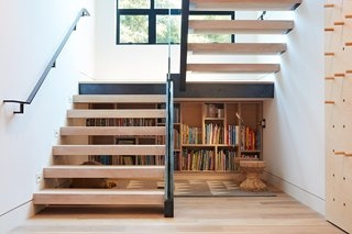 10 Smart And Surprising Under Stair Design Solutions Dwell   Stairway Designs For Small Spaces   Home Side Wall   Storage   Decorative   Straight   First Floor Step