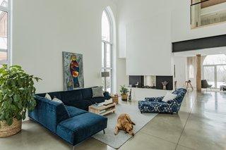 modern living room sofa two sided