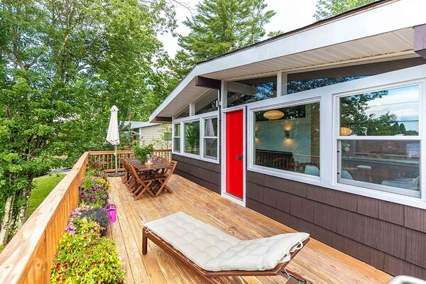 modern outdoor wood patio porch deck