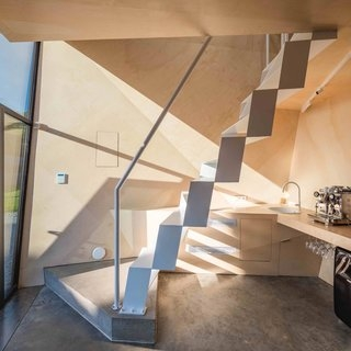 Best 60 Modern Staircase Design Photos And Ideas Dwell | Loft Stairs For Small Spaces | Child Friendly | Studio Apartment Minimalist | Corner | Steel | Loft Staircase
