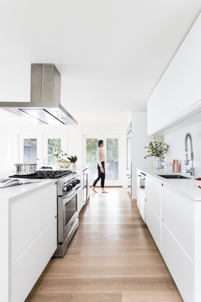 "These 30 White Kitchens Are Anything But Ordinary - Photo 10 of 30 - The design studio, Studio Block, strives for their work to be ""enduring and uncomplicated, modern yet warm, and embracing simple luxury with playful moments."""