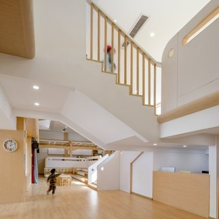 Best 60 Modern Staircase Wood Railing Design Photos And Ideas   Ceiling Design For Stairs Area   Wall Light   Reception   Internal Staircase Wall   Interior   Show Room