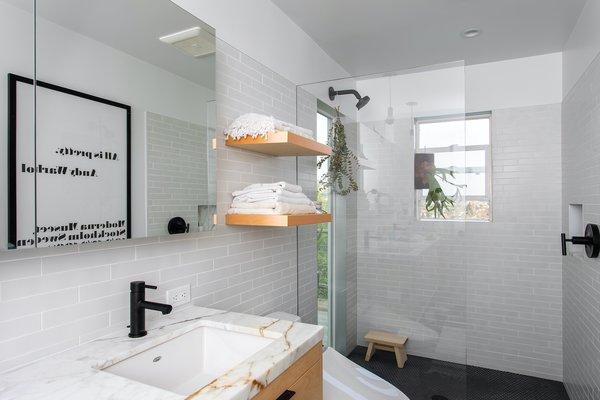 bathroom subway tile walls