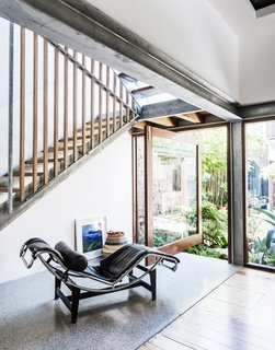 Best 60 Modern Staircase Wood Railing Design Photos And Ideas Dwell | Metal Railing Designs Stairs | Front Porch Stair Railing | Banister | Residential | Caramel | Rustic
