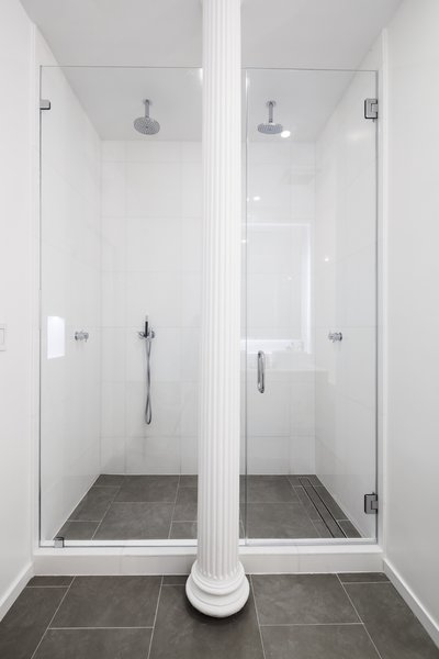 showers cement tile floors design