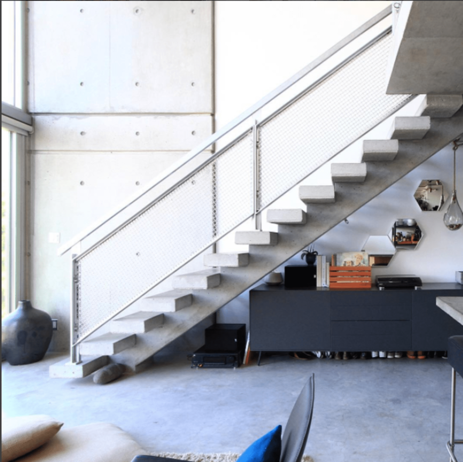 Photo Of The Week Floating Concrete Staircase By Architect Arthur | Floating Concrete Steps Designs | Exterior | Landscape | House | Sidewalk | Cement