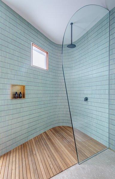 showers glass tile walls design photos