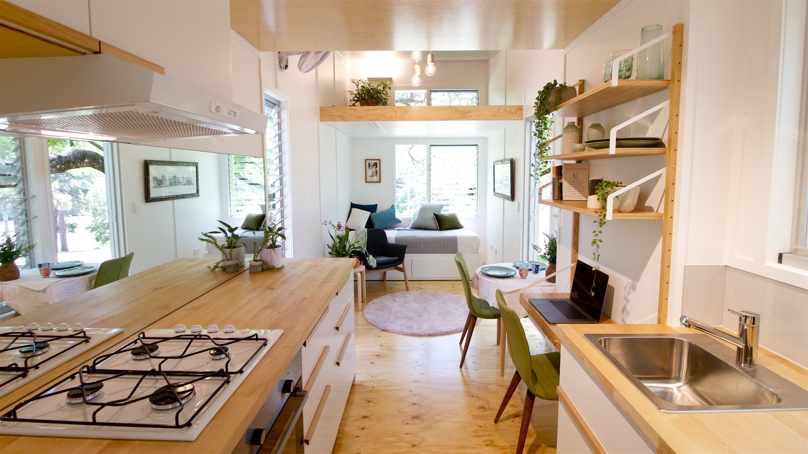 This Midcentury-Inspired Tiny House Radiates Clever Design