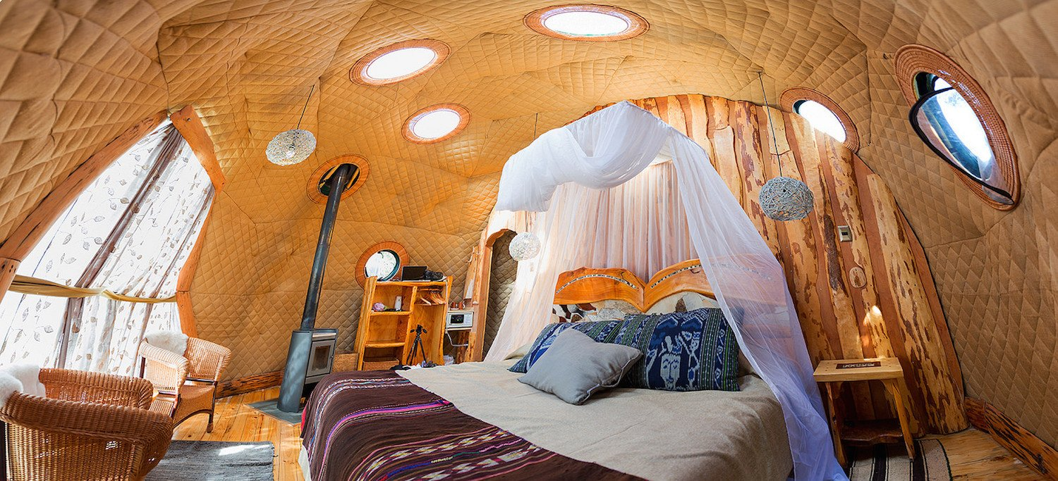 Best Kitchen Gallery: Soak Up The Magic Of Patagonia At This Eco Friendly Geodesic Dome of Eco Friendly Dome Home on rachelxblog.com