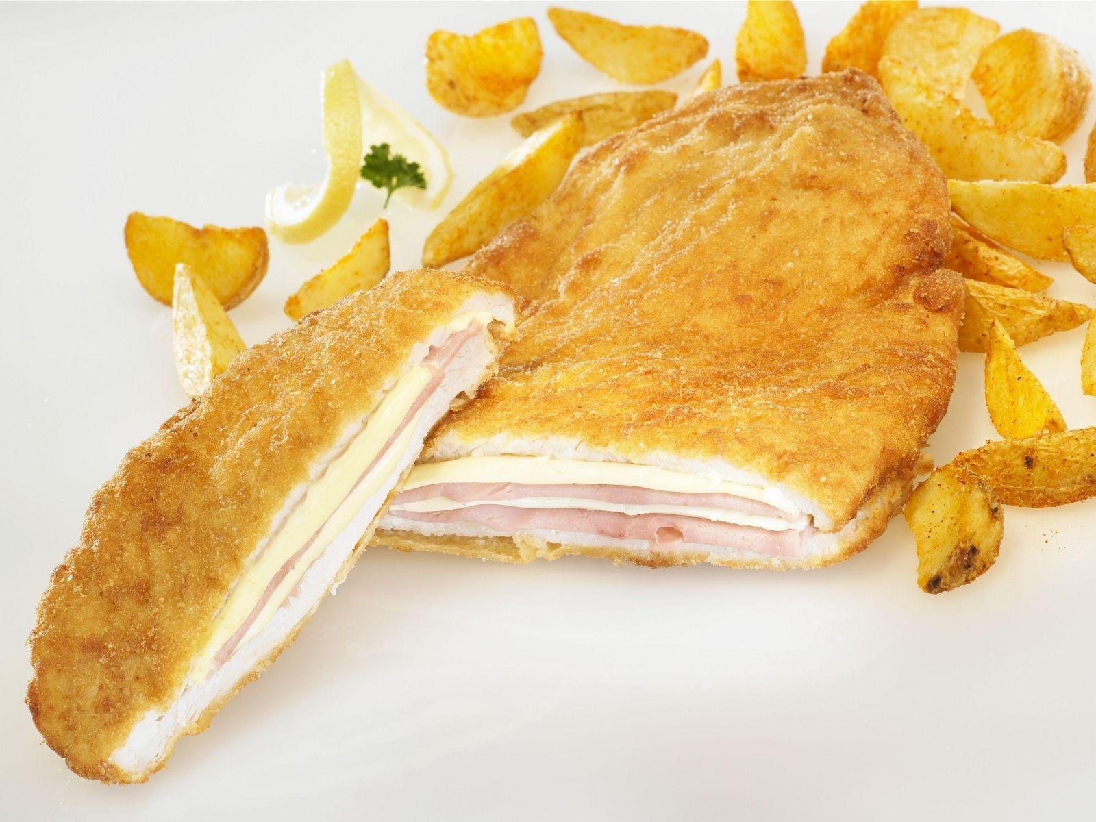 hahnchen nach cordon bleu art mit kartoffelsticks