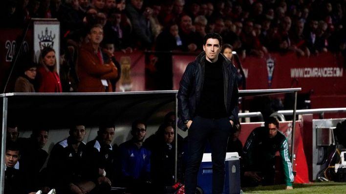 Iraola, en la semifinal de Copa con el Mirandés. (Reuters)
