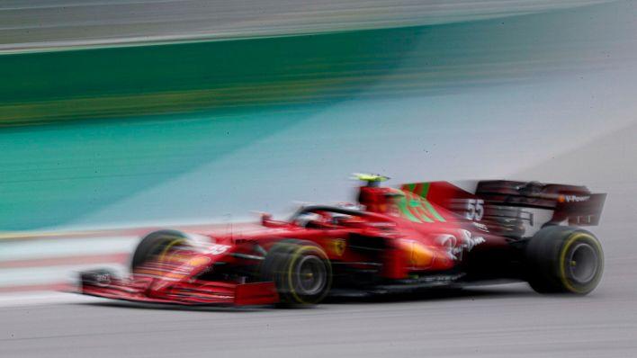 Sainz, durante la carrera. (Efe)