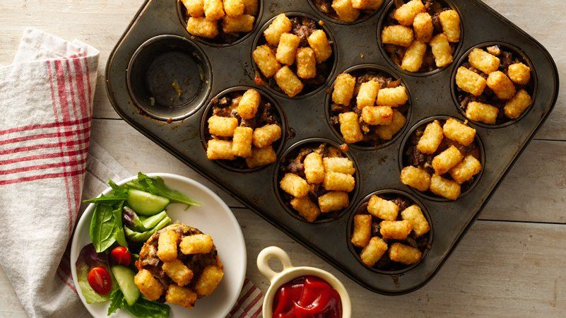 Muffin-Tin Tater Tot™ Hot Dish Cups
