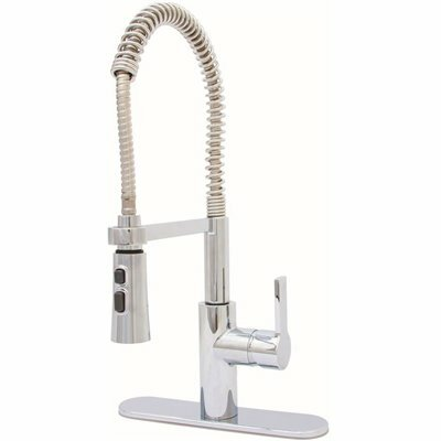 premier beck single handle pull down sprayer kitchen faucet in chrome