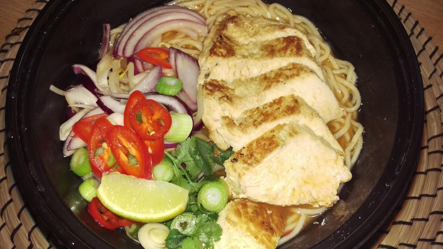 Deliveroo-Wagamama chicken chilli ramen