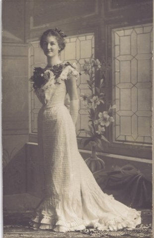 Edwardian Evening Dress Unknown C 1900 9312824 On EHive