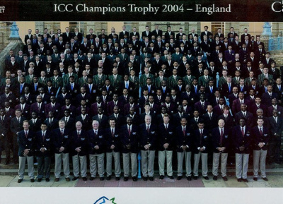 Photo: ICC Champions Trophy Cricket Teams and Officials, including the New Zealand ODI Cricket Team, England, September 2004; SEP 2004; 2005.33.31