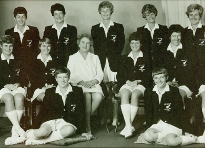 Photo: New Zealand Women's Cricket Team v England, First Test, Wellington 1969; Frank Thompson, Crown Studios; 1969; 98/85