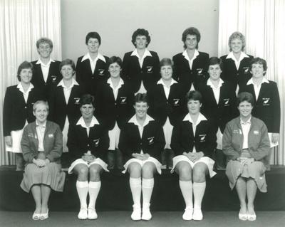 Photo: New Zealand Women's team to Australia and India, 1985; Vernon Clark Photography; 1985; 2016.31.12