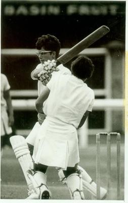 Photo: Trish McKelvey batting against England, Basin Reserve, 1969; Dominion and Sunday Times; 1969; 2018.5.42