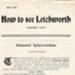 How to See Letchworth leaflet, 1906; Adams, Thomas; Hine, Reginald; 1906; 14359/1