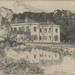 Hitchin Priory, pen and ink drawing, 1898