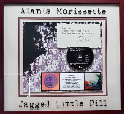 Album Print Alanis Morissette Poster Framed Original Art Jagged Little Pill