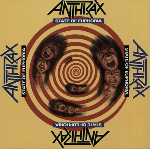 Anthrax State Of Euphoria + insert vinyl LP album (LP record) UK ANXLPST573188