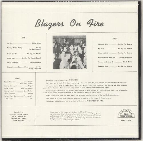 Blazers On Fire - Sealed vinyl LP album (LP record) US Q5ZLPON708345
