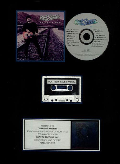 Bob Seger The Fire Inside/Greatest Hits award disc US SEGAWTH443837