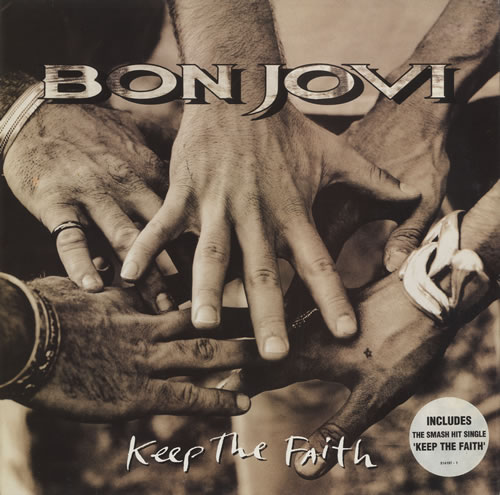 Bon Jovi Keep The Faith vinyl LP album (LP record) UK BONLPKE516127