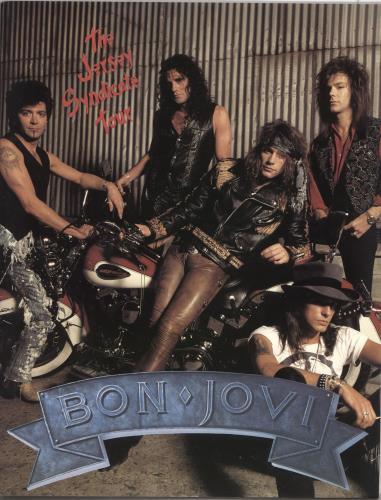 Bon Jovi The Jersey Syndicate Tour - Motorcycle Cover + Ticket Stub & Patches tour programme UK BONTRTH728701