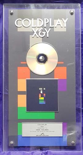 Coldplay X&Y- Platinum award disc Swiss DPYAWXY693966
